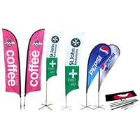 Feather Teardrop Costom Outdoor Promotion Beach Flag