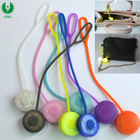 Safety Warning Led Purse Light With Silicone Rope