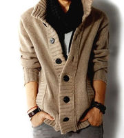 F70040V New winter blast a new han edition sheep wool cardigan sweater coat men fashion