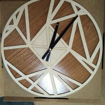 high quality laser cut Wood Crafts Wall Clocks
