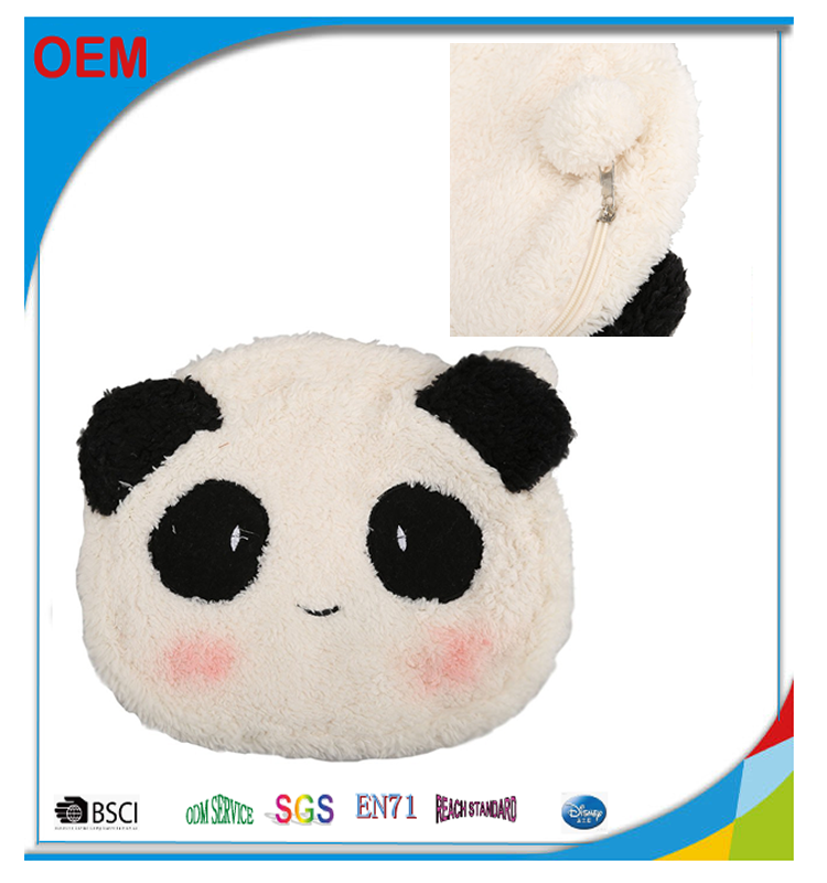 mini animal shaped plush cosmetic bag, lady package bag for makeup, portable cosmetic bag travel