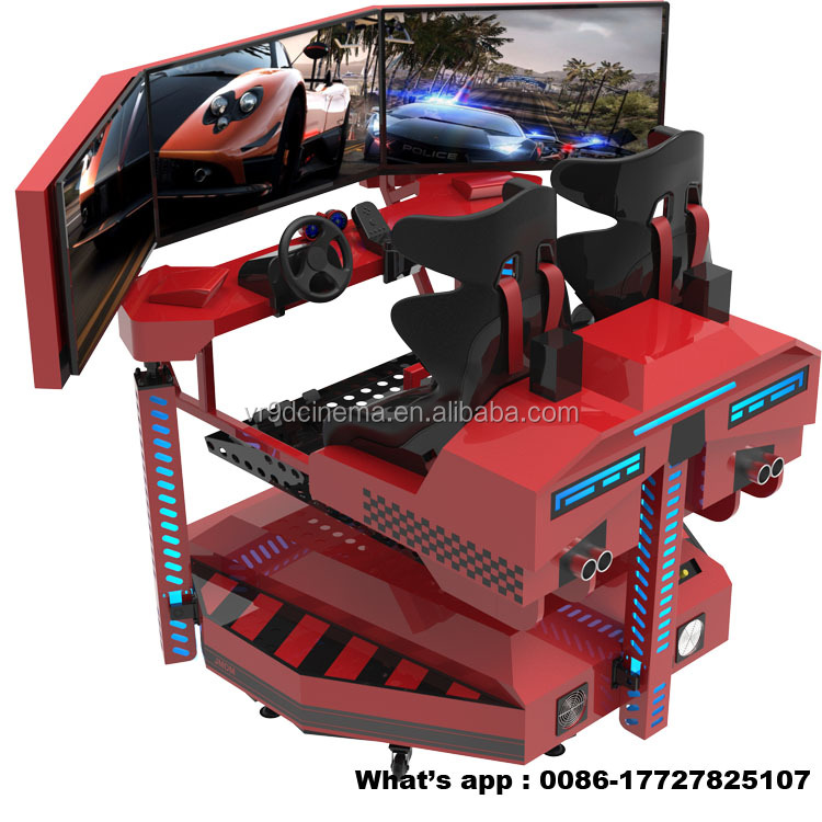 2017 Rotatable Electric Platform Driving car Simulator for free racing games download