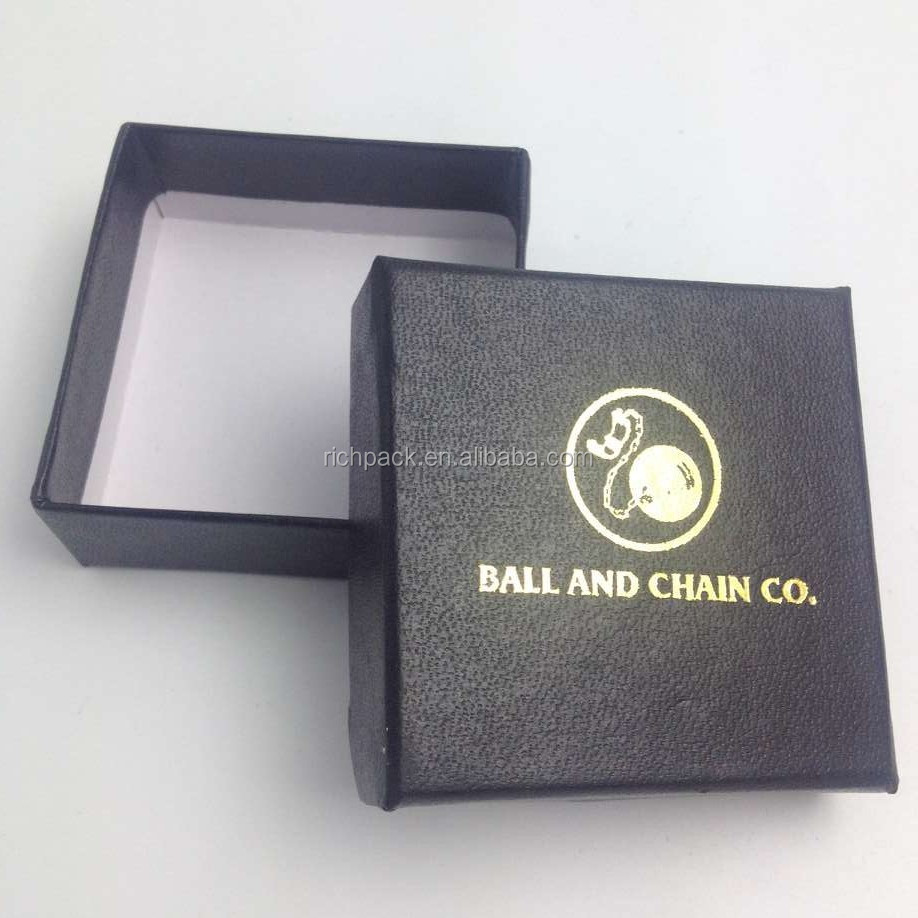 Custom plain cotton filled cardboard paper jewelry boxes wholesale