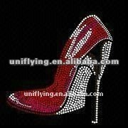 Popular lred shoes stone design hot fix motifs