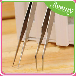 fashionable stainless cosmetics tweezers ,ADE110 latest logo stainless steel eyebrow tweezers