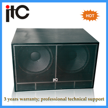 Professional sound system hot dual 18 inch subwoofer speaker box