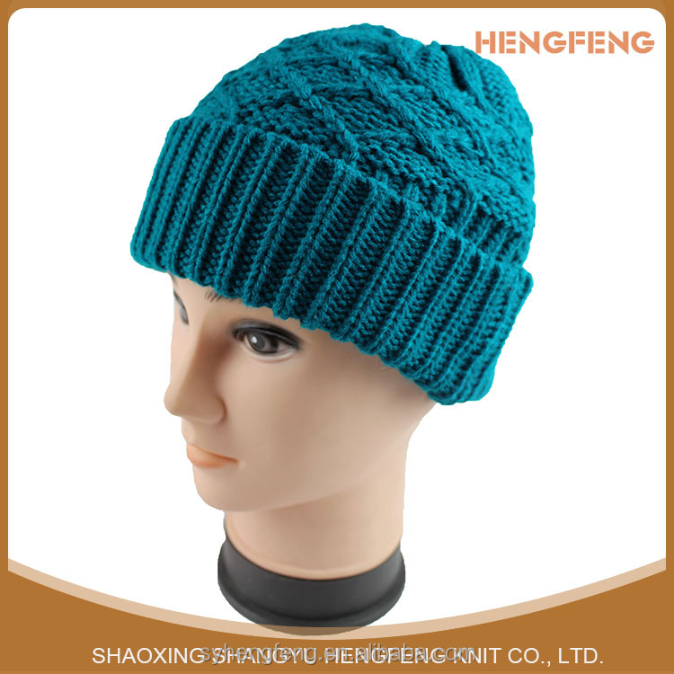 Wholesale Custom winter knitted wool hat for men