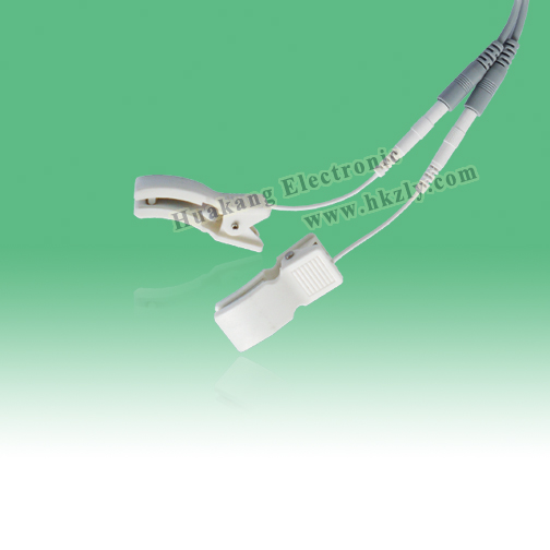 Low resistance ear chip electrode for electronic pulse massager
