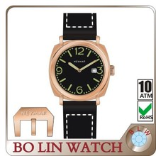 copper watch 30 atm, German brass CuSn8 case/Italy genuine leather/mechanical/sapphire crystal/10ATM
