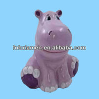 Hippo ceramic piggy bank personalized coin bank