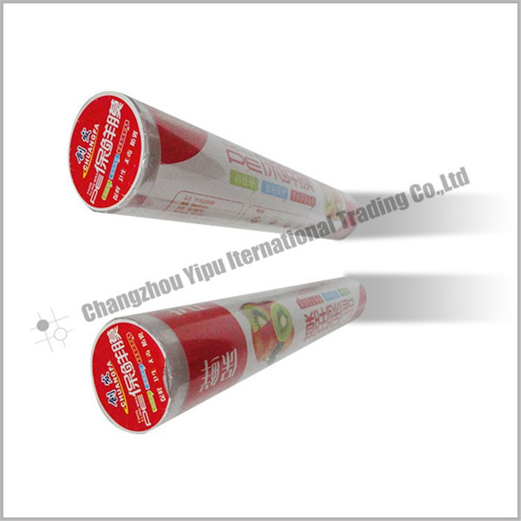 Color Box Pe Food Cling Wrap Film With Slide Cutter