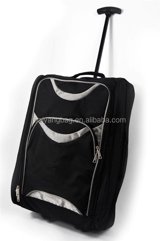 Light weight Luggage trolley soft side waterproof polyester wheeled duffle bag