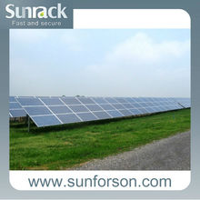 1MW Sunrack ground pile solar mount system