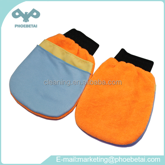Eco-friendly microfiber cleaning cloth gloves for kitchen and household