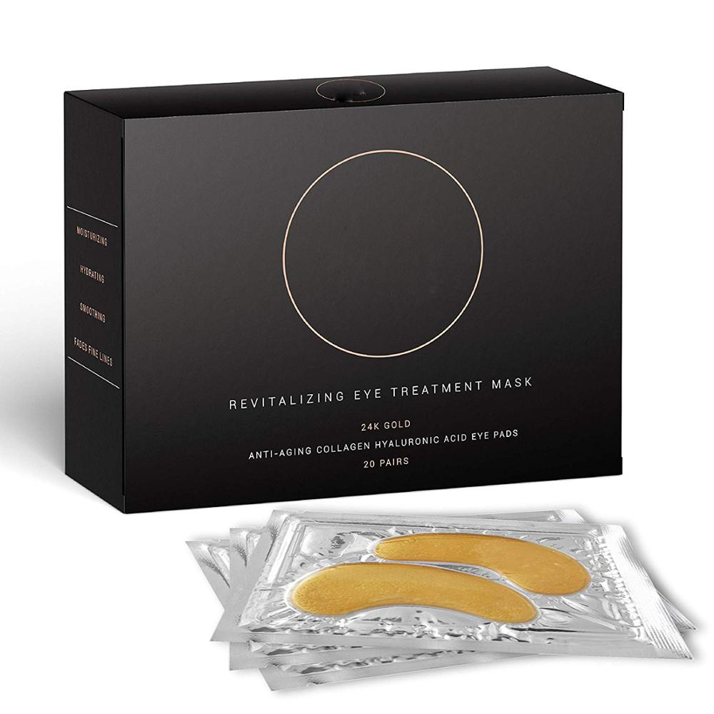 Natural 24K Gold Collagen Pads Revitalizing Eye Treatment Mask For Anti Wrinkles & Anti Dark Circling