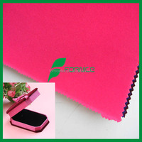 China manufacturer Material Color flock velvet fabric for jewelry box