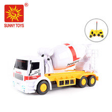 alibaba best sellers 4 channels powerful concrete mixer toy rc tractor trucks with light