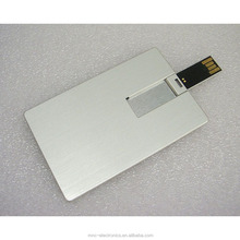 Bulk 1gb, 2gb, 4gb, 8gb, 16gb cheap metallic credit card usb memory flash drive with both sides full color logo printing