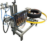 Tire printer - Industrial Inkjet printer for tire sidewall of motorcycle