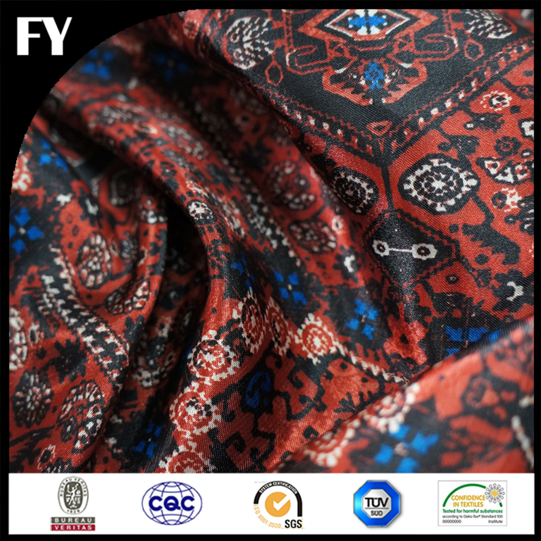 Wholesale digital printing high demand wool polyester blend fabric