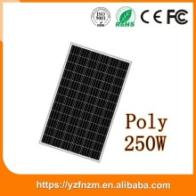china supplier cheap 250w solar panel price poly with CE RoSh