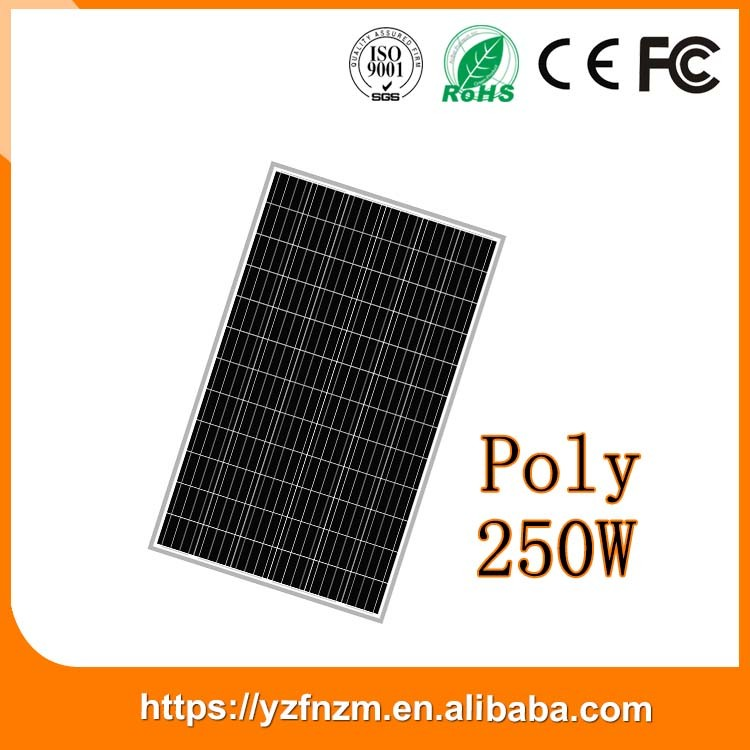 made in China 72 cells pv module 250w solar panel polycrystalline silicone promotion cheap price