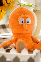 Cute Plush Big Eyes Carrot Doll/Soft Carrot 28cm Total Length/Stuffed Vegetable Toy Customized Carrot Doll