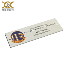thin nameplate printing metal plate labels for machine door