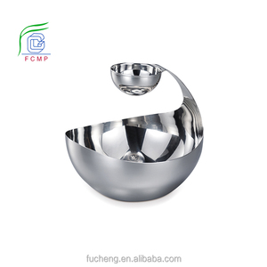 2-tier stainless steel salad bowl dinnerware type mix bowl unique salad bowl