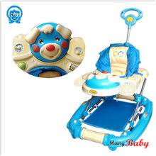 inflatable baby walker with 6 swivel wheels
