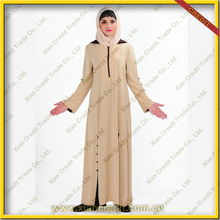Muslim women clothes women Abaya with hoody porpular in Dubai islamic abaya and hijab