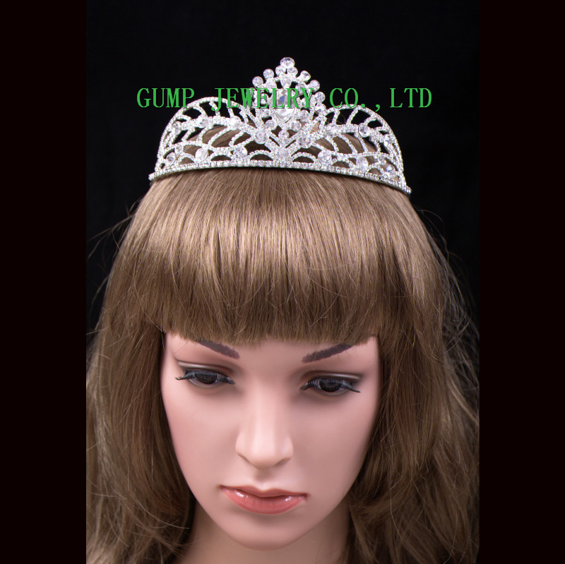 Fashion Design Crystal Tiara Shiny Rhinestone Crown
