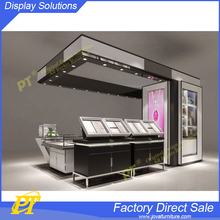 Retail custom glass jewellery kiosk design, modern jewelry kiosks for mall