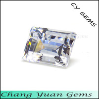 8x6mm White color baguette cz stone