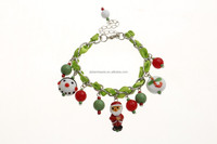 holiday jewelry High quality Glass beads charms bracelets for Christmas