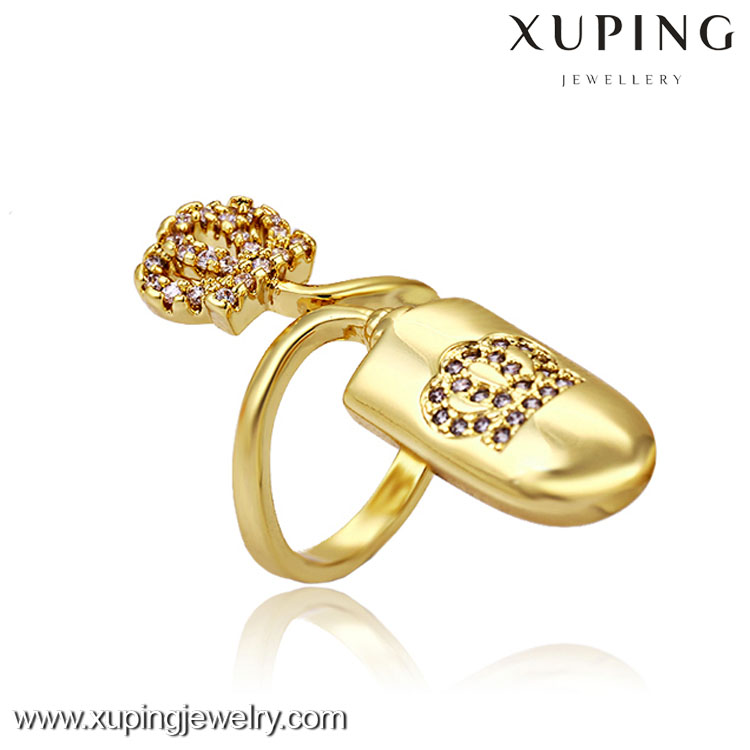 13253-xuping fashin jewelry elegant latest women big diamond crown ring