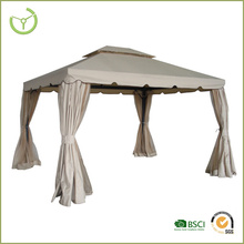 New design garden pavilion gazebo aluminum and polyester wrought iron metal gazebo
