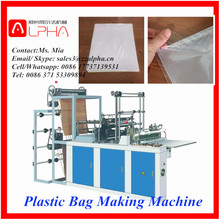 Alpha AP-ZD1 super supplier high efficiency high quality plastic pe film roll garbage bag making machine