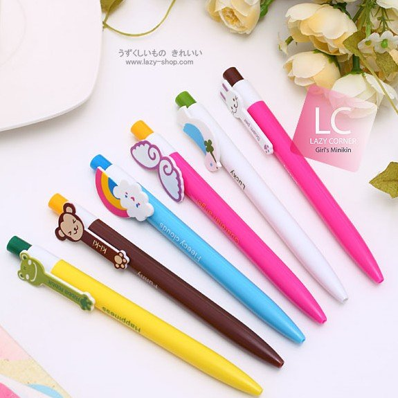 Wholesale  Free shipping 50pcs/lot Cartoon ball pen Creative ball point pen Low price promotional pens