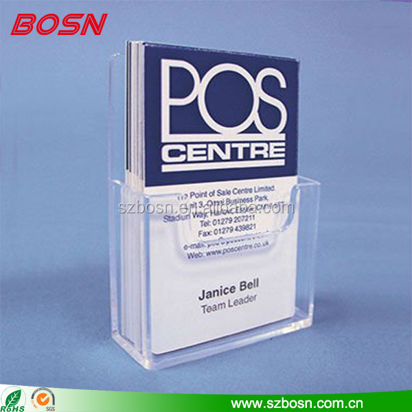 Manufactory custom clear acrylic leaflet holder Perspex flyer display stand pocket