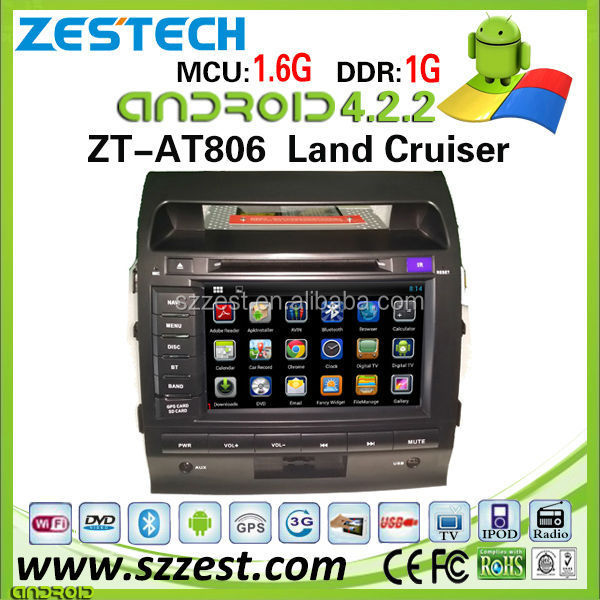 ZESTECH wholesale OEM pure android car dvd for Toyota Land Cruiser android car dvd player with 3g wifi bluetooth