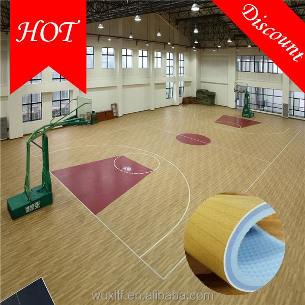 2016 hot sale top quality high quality basketball flooring rolls