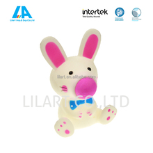 Rubber animal rabbit bath toys for kids