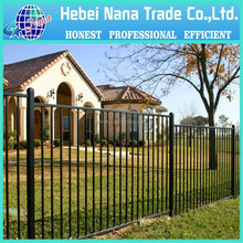 Wholesale galvanized black fence panel / used steel aluminum fence