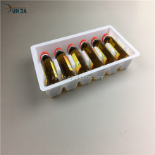 Customized Small Vial Blister Plastic Medical Packaging Tray with Deviders
