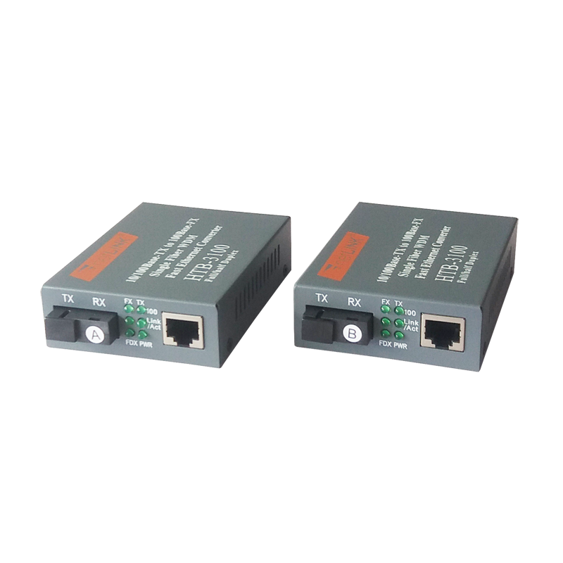 Best price <strong>network</strong> switches 10/100M 25km SC single mode sinle fiber Netlink media converter