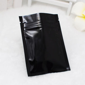 Black Matte Smell Proof aluminum foil ziplock zipper bags