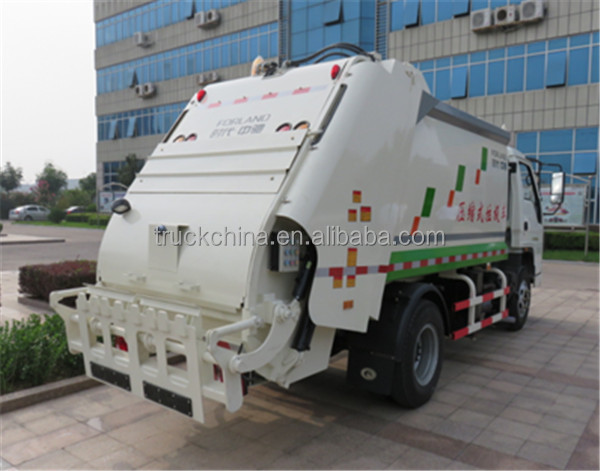 FOTON 120hp 4 Ton Compacted Garbage Truck Garbage Compactor Truck