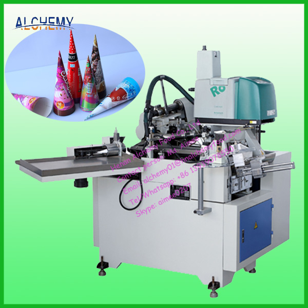 Automatic Ice Cream Cup Paper Cone Sleeve Making Machine 0086 13939078550