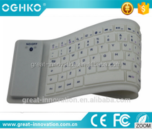 Useful soft colorful silicone no noise wireless bluetooth computer keyboard